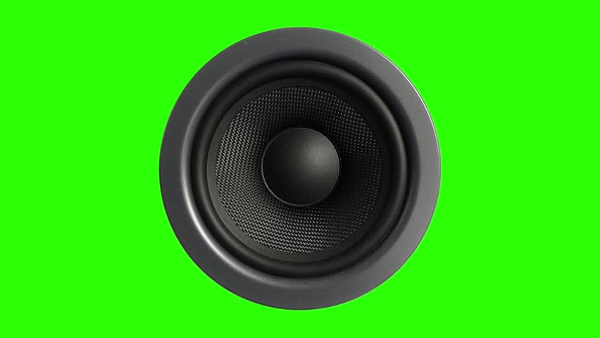 Speaker Stereo Music Green Screen 3D Rendering Animation #28087168