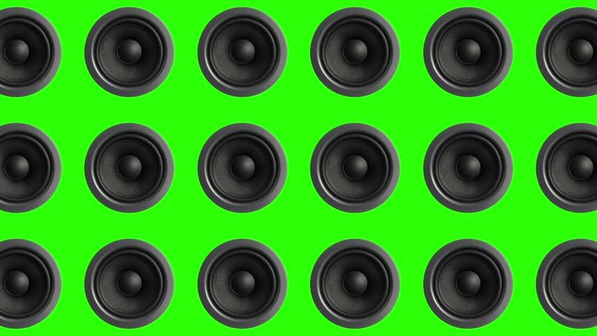Multi Speaker Turn Loop Music Green Screen 3D Rendering Animation