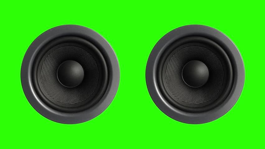 Two Speaker Stereo Music Green Screen 3D Rendering Animation #28087174