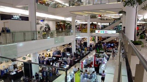 BANGKOK, THAILAND - JUNE 22, 2017: People are shopping in Fashion Island Shopping Mall Bangkok.