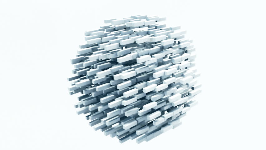 3D Animation.  Abstract animation that morphs a sphere shape into a chaotic wire mesh. #28119877