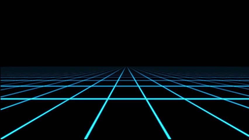 Blue Holographic Grid Matrix Floor Motion Graphic Element | Shutterstock HD Video #28148416
