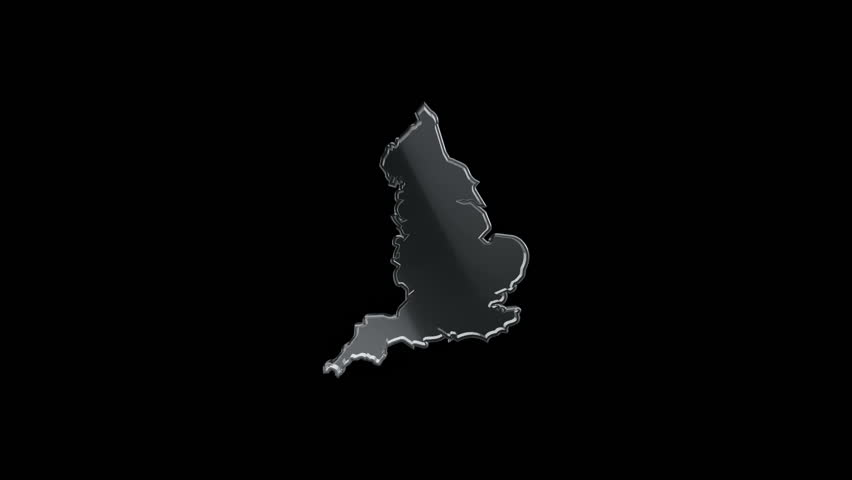 3D Animation rotation of symbol of England map from glass. Animation of seamless loop. | Shutterstock HD Video #28161913
