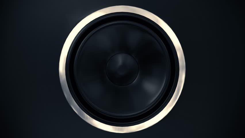 Speakers music vibrating sub cone beats bass club loudspeaker sound boom box 4k #28174306