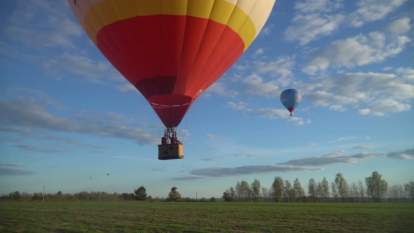 fly away on hot-air balloons
