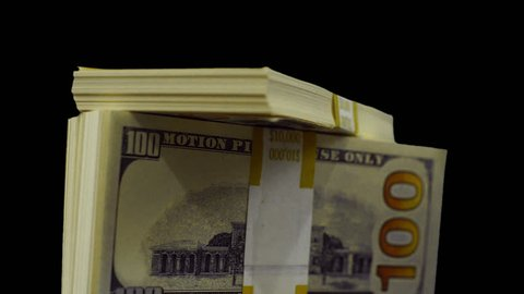Piled up stacks of money. PNG alpha background. Prekeyed.