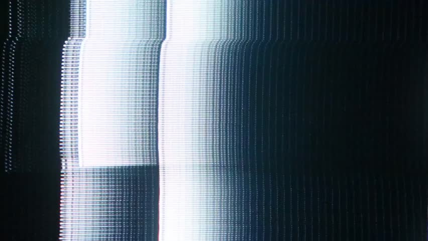 Analog glitch effects with visible CRT cathode tube pattern. | Shutterstock HD Video #28195354