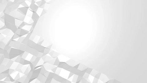 White Low Poly Abstract Background Videos De Stock 100 Libres De Droit 13972121 Shutterstock