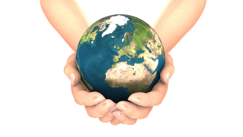EARTH in HANDS LOOP with alpha matte  | Shutterstock HD Video #282040