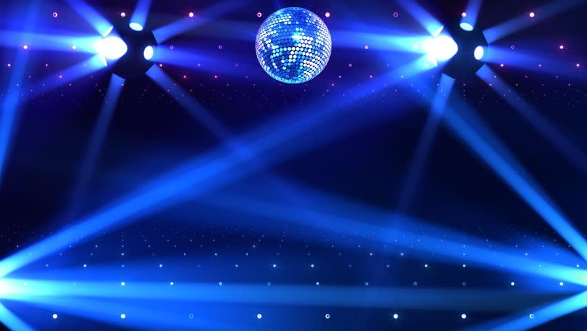 Disco Mirror Ball Lights Stock Footage, Mirror Ball Spotlight