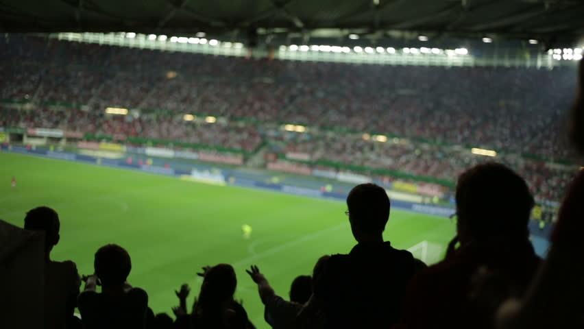 Soccer fans in stadium | Shutterstock HD Video #2822764