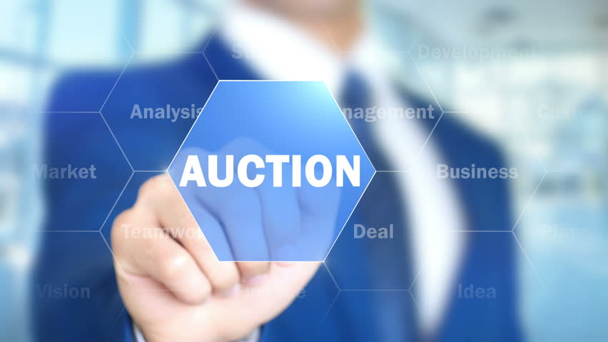Auction, Man Working on Holographic Interface, Visual Screen Royalty-Free Stock Footage #28241863
