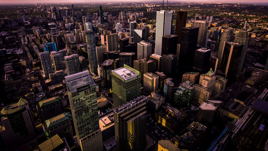 High angle view of Toronto downtown time lapse, Canada tilt | Shutterstock HD Video #28245106