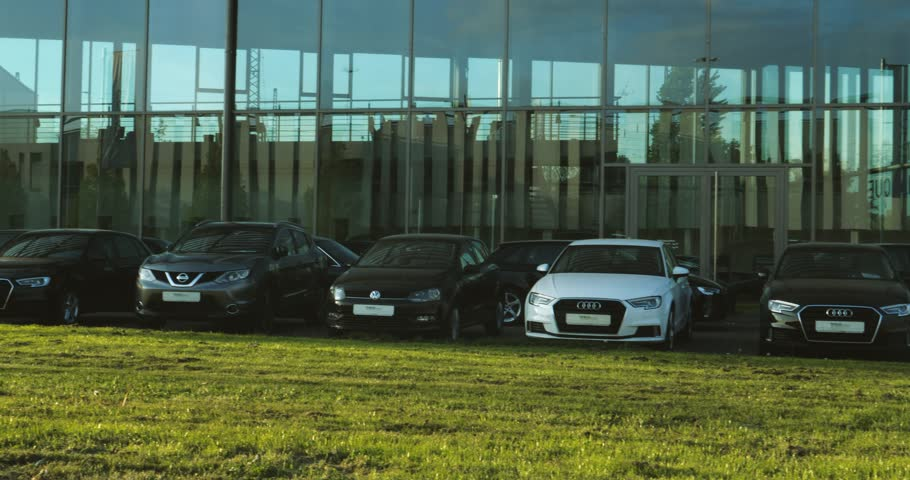 KEHL, GERMANY - CIRCA 2017: German car auto dealer Tabor in central Kehl with multiple Audi, Volkswagen, BMW, Mercedes-Benz Nissan and other brands for sale