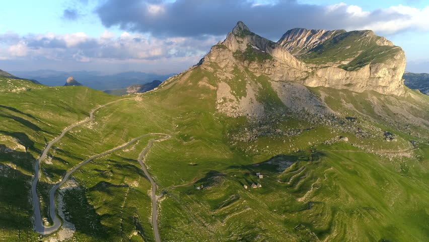 Flying in the mountains of Durmitor national park, Montenegro.