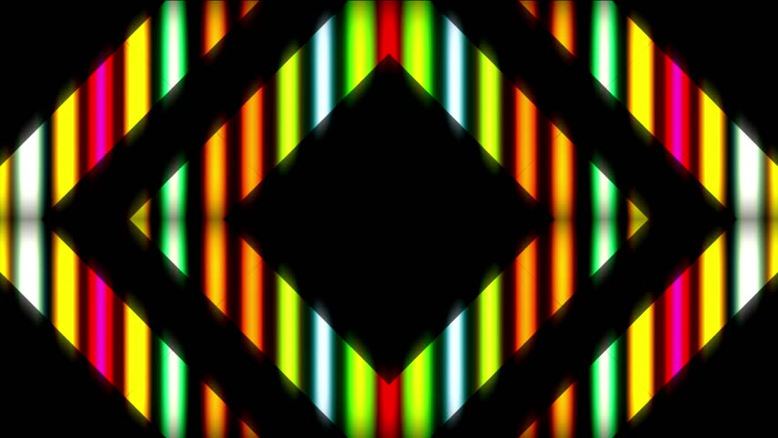 Ultra Music Festival Kaleidoscope background Hypnotic kaleidoscope stage visual loop Fractal colored motion background Disco spectrum lights concert spot bulb Abstract multicolored neon graphics led