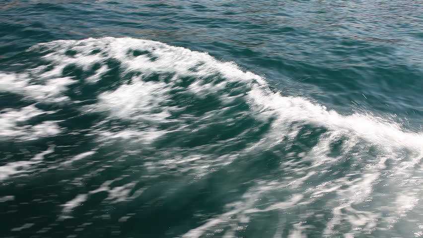 Wake from the boat | Shutterstock HD Video #2833294