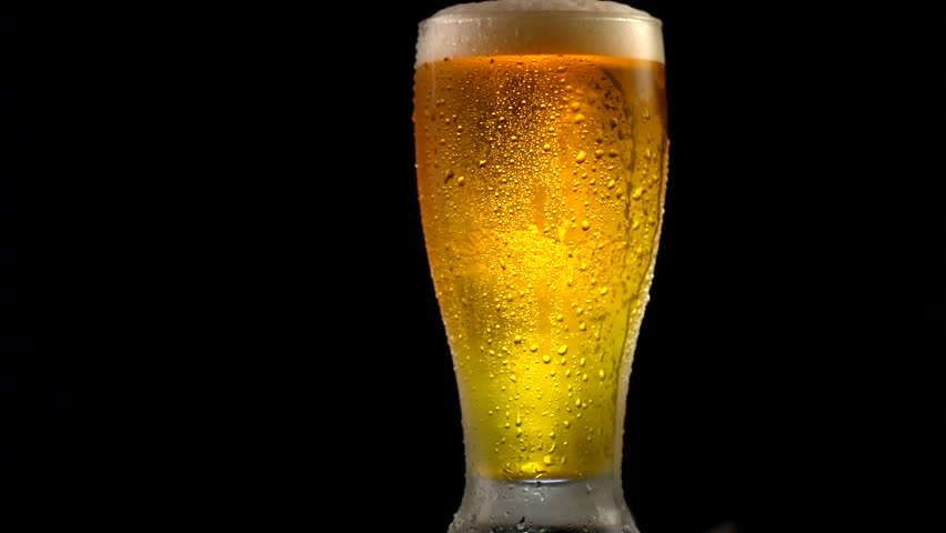 Cold Beer in a Glass Stock Footage Video (100% Royalty ...