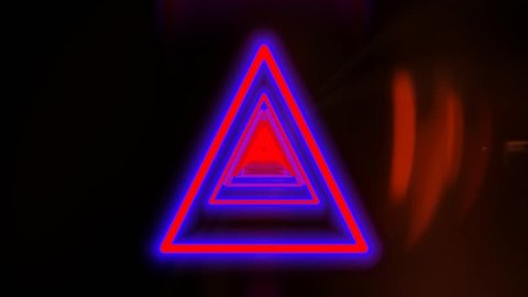 colorful triangle shape disco party background