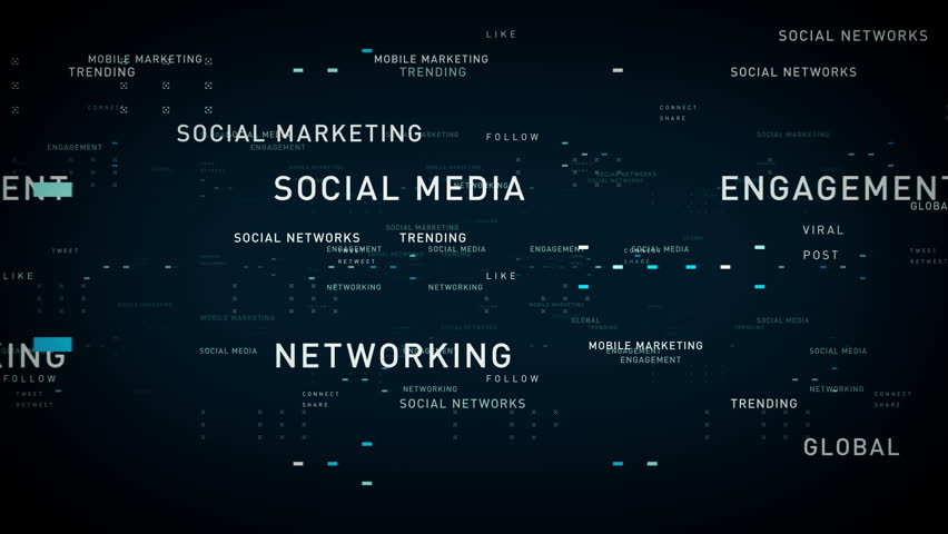 Keywords Social Media Blue - Important terms about social media pass through cyberspace. All clips are available in multiple color options. All clips loop seamlessly. | Shutterstock HD Video #28353604
