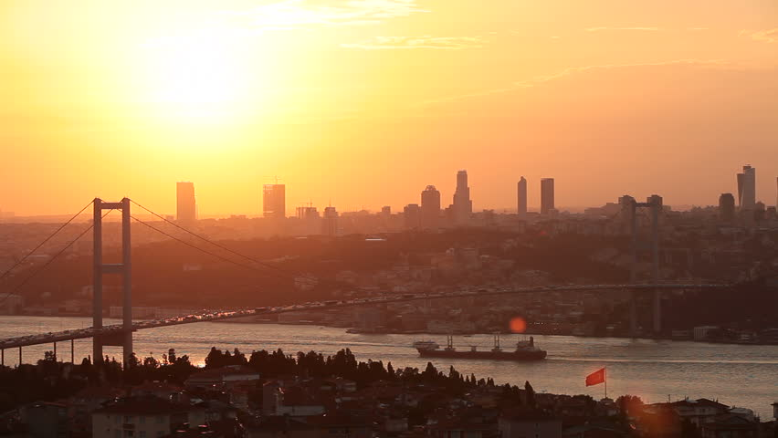 Sunset in Istanbul Turkey-timelapse