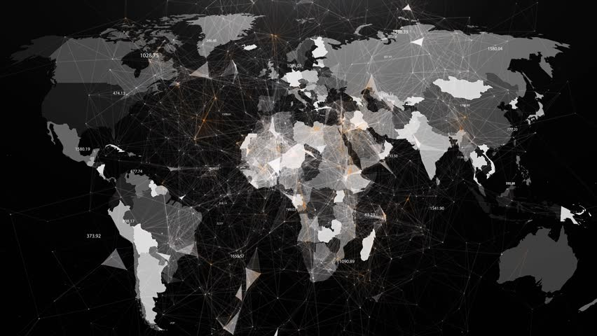 Abstract image of global networks in the world in the form of plexus | Shutterstock HD Video #28387870