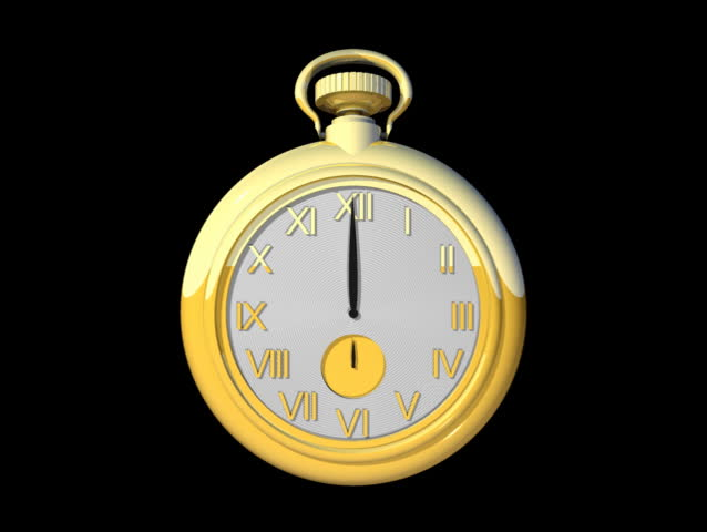 Computer-generated animated loop depicting a pocket watch