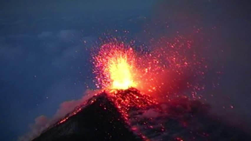 Volcanic eruption volcano Fuego