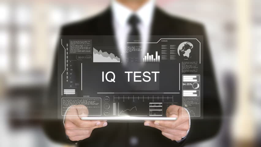 IQ Test, Hologram Futuristic Interface, Augmented Virtual Reality