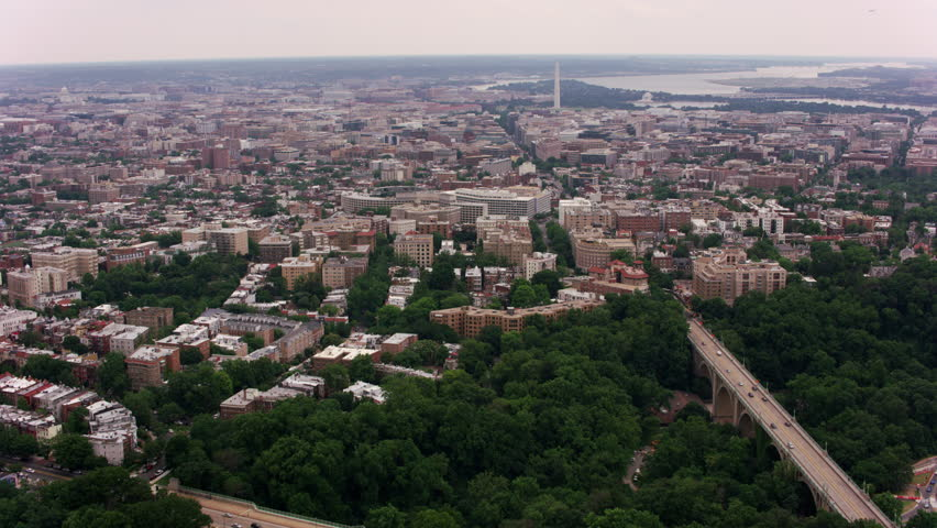 Washington, D.C. circa-2017, Flying up 16th Street to National Mall. Shot with Cineflex and RED Epic-W Helium.