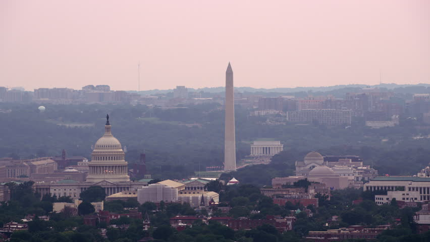 Washington, D.C. circa-2017, Aerial view of US Capitol Building. Shot with Cineflex and RED Epic-W Helium.