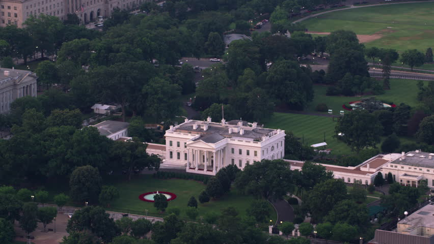 Washington, D.C. circa - 2017, Aerial view of White House, home to the President of the United States.