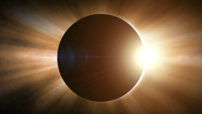 Side view of a solar eclipse   Shutterstock HD Video #2852164