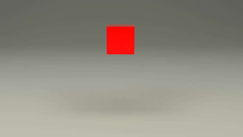 3d box falling from a height and broken in pieces. on a gray background HD video. 1080p | Shutterstock HD Video #2855548