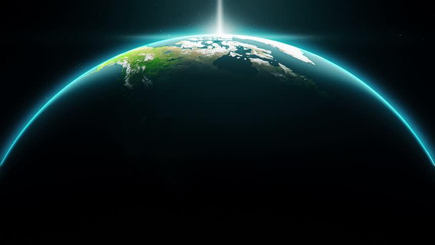 Cinematic Crescent Earth. Map Credits To NASA #28599040