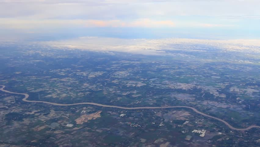 Ground and winding river, view from the airplane    Shutterstock HD Video #28607818