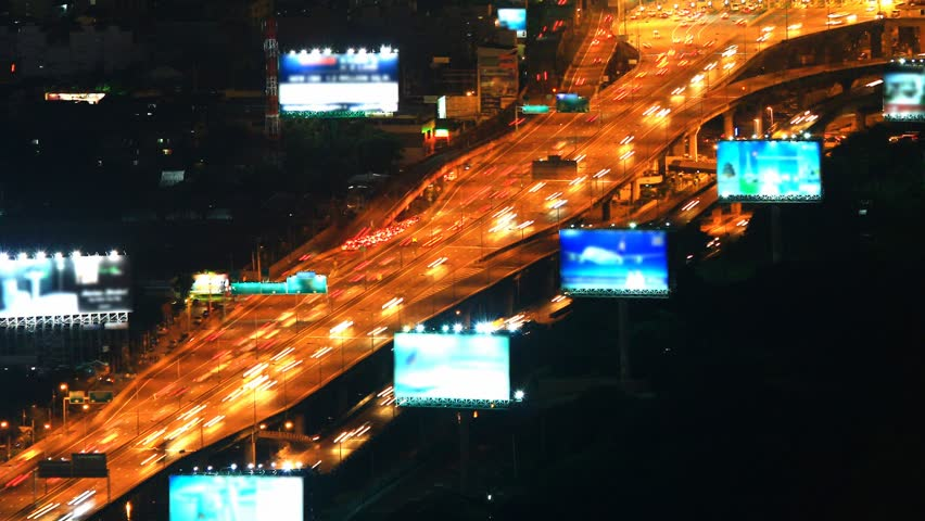 Density of cars on the roads and freeways in rush hour.   Shutterstock HD Video #2865403