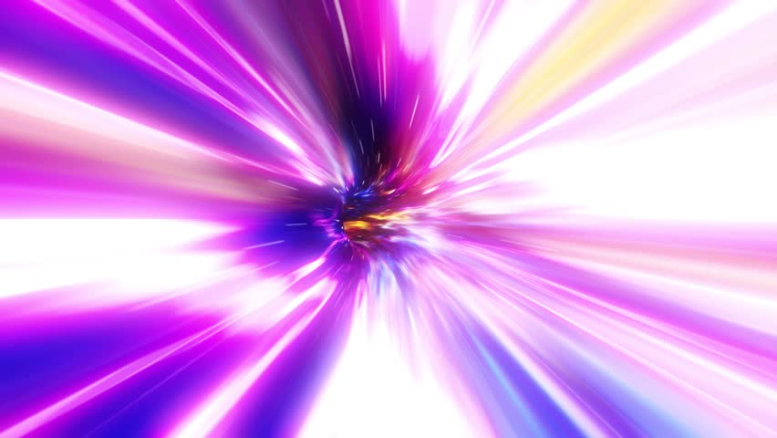 3D Colorful Curved Loopable Space Interstellar Wormhole Background Animation