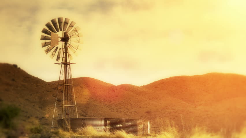 Spinning water pumping windmill in dry / arid area - Motionphoto Seamless Loop (use only the first 7 frames looped to create a small optimized GIF for web) #2867047