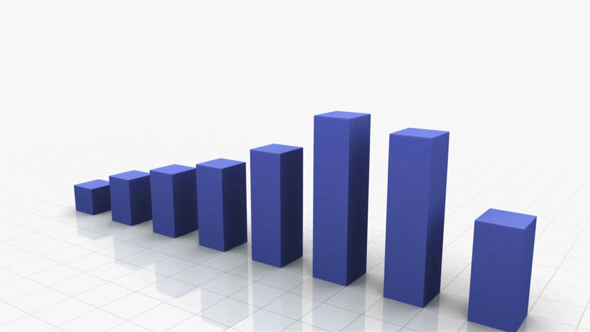 3D Growing Business Chart in Blue. Different variations of this file as well as many other business related animations available in my Contributor Gallery.   Shutterstock HD Video #2870281