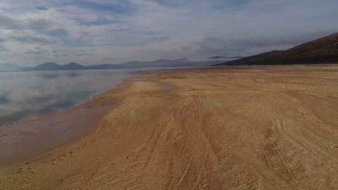Drone footage of the Kwaggaskllof agricultural dam in the western cape, South Africa