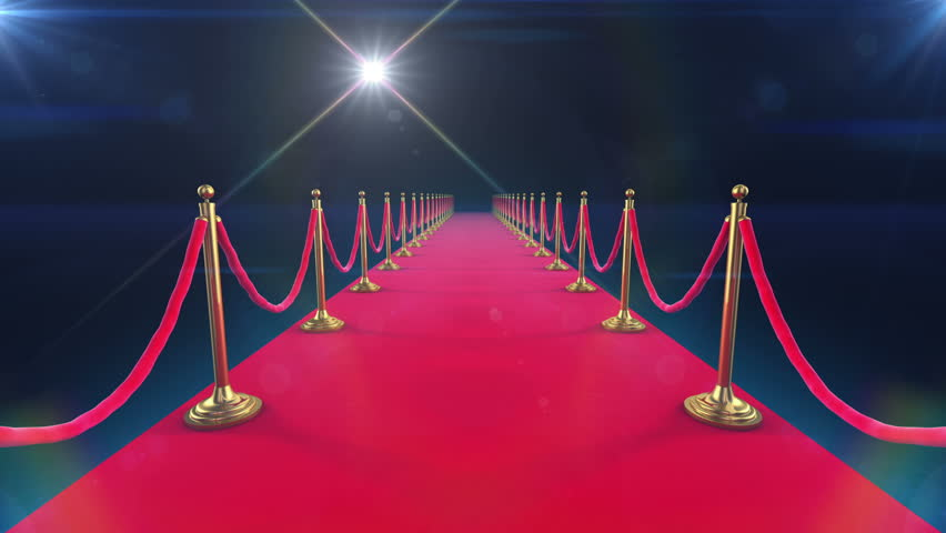 Unrolling Red Carpet animation and paparazzi camera flashes. | Shutterstock Video #2871319