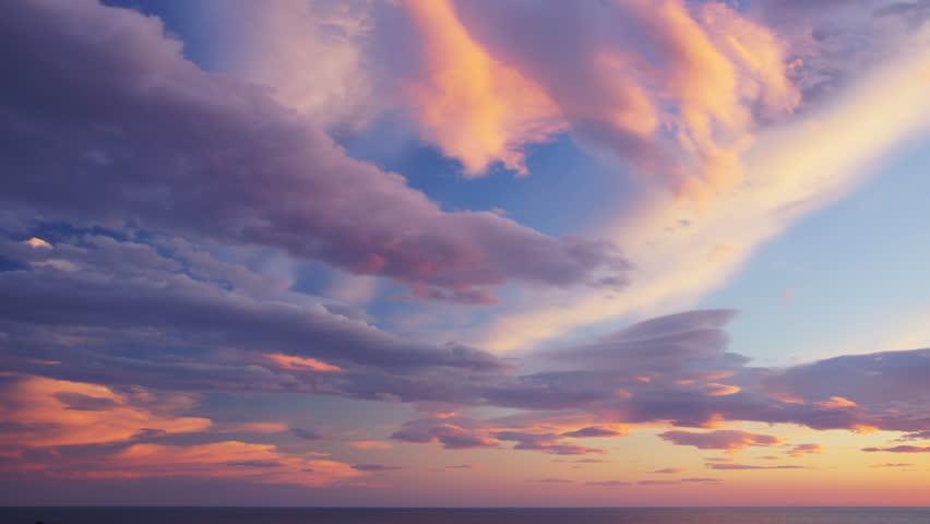 4K UHDTV panoramic time-lapse of sunset sky