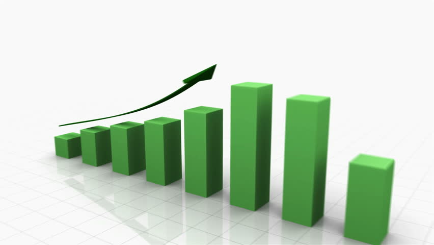 3D Growing Business Chart in Green with Climbing Arrow. Different variations of this file as well as many other business related animations available in my Contributor Gallery.   Shutterstock HD Video #2874304