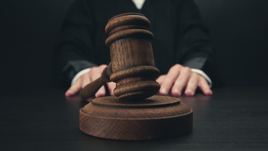 Justice and law concept - judge in a courtroom with the gavel, slow motion | Shutterstock HD Video #28776601