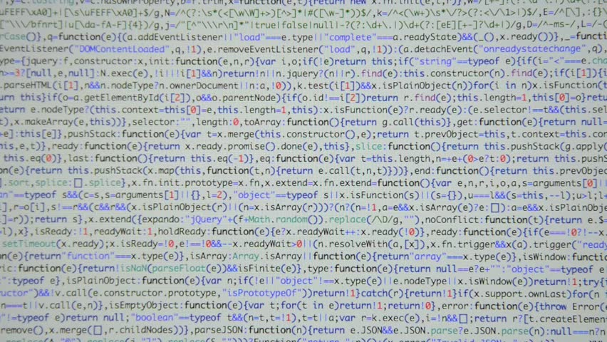 HTML and CSS code developing. Website design code programming on a laptop screen. Web dev work.   Shutterstock HD Video #28805080