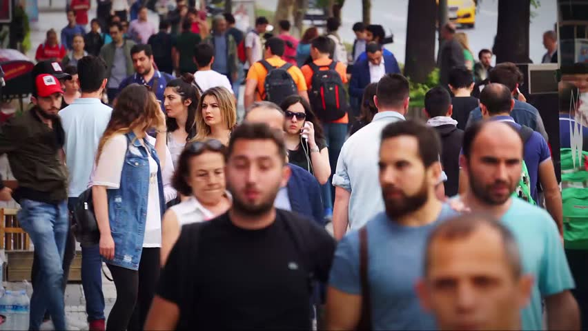 Human Faces Rush Hour Royalty-Free Stock Footage #28816960
