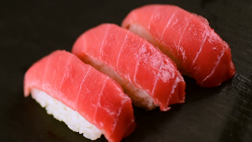 Burning Tuna Sushi , Japanese Stock Footage Video (100% Royalty ...
