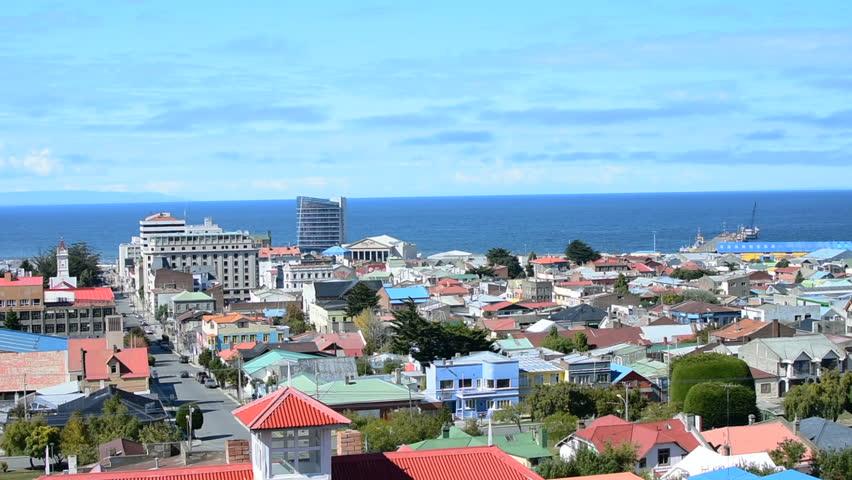 A panoramic view of Punta Arenas from the Cerro La Cruz