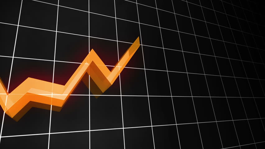 3D Loopable line chart in Orange. Also available in green, red, blue, yellow and purple.   Shutterstock HD Video #2883676